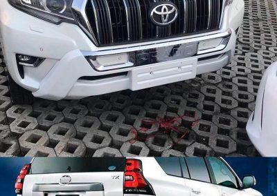 Ampliación bumper frontal y trasero Toyota Prado